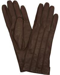 Portolano - Nappa Leather Rope Stitch Gloves - Lyst
