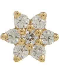 Maria Tash - 4.5mm Diamond Flower Thread Stud - Lyst