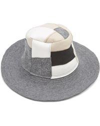 Albertus Swanepoel - Mies Wool Felt Patchwork Wide Brim Hat - Lyst