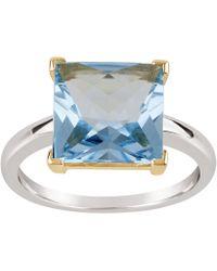 Dinny Hall - Silver And Gold Gabi Blue Topaz Ring - Lyst