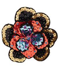 Etro - Floral Brooch - Lyst