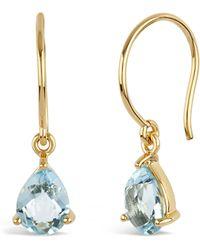 Dinny Hall - Gold-plated Gem Drops Sky Blue Topaz Drop Earrings - Lyst