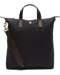 Mismo - Canvas Leather Shopper Tote Bag - Lyst