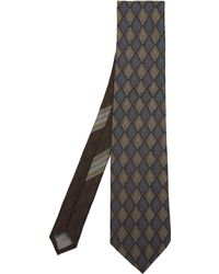 Dries Van Noten - Diamond Print Silk Tie - Lyst