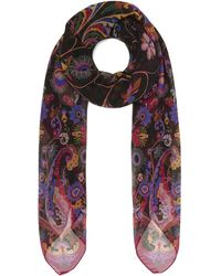 Etro - Bombay Floral Paisley Chiffon Scarf - Lyst