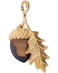 Annoushka 18ct Gold Smoky Quartz Acorn Seed Charm