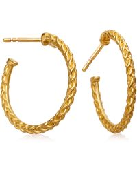 Astley Clarke - Gold-plated Medium Spiga Hoop Earrings - Lyst