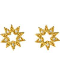 Astley Clarke - Gold Mini Sun Biography Stud Earrings - Lyst