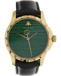 5ca42307249 Lyst - Gucci G-timeless Medium Stainless Steel Watch in Metallic