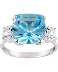 Dinny Hall - Silver Teresa Blue And White Topaz Ring - Lyst