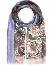 Etro - Shaalnur Floral Silk Shawl - Lyst