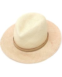 Albertus Swanepoel - Two Tone Dyed Panama Hat - Lyst