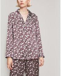 Liberty - Midnight Mischief Silk Satin Long Pyjama Set - Lyst