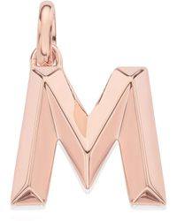 Monica Vinader | Rose Gold-plated Alphabet Pendant A-z | Lyst