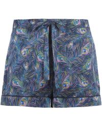 Liberty - Orion Silk Pyjama Shorts - Lyst