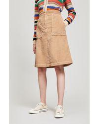 MASSCOB - Idris Mid-length Corduroy Skirt - Lyst