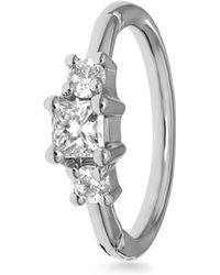 Maria Tash - 2mm Diamond Princess Ring - Lyst