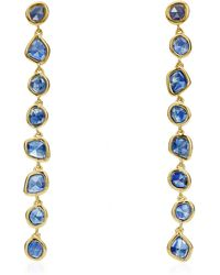 Monica Vinader - Gold Vermeil Kyanite Siren Mini Nugget Cocktail Earrings - Lyst