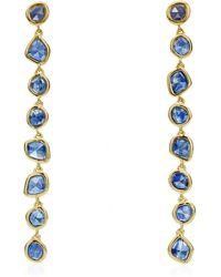 Monica Vinader - Gold Vermeil Siren Kyanite Mini Nugget Cocktail Earrings - Lyst