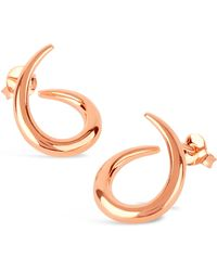 Dinny Hall - Rose Gold-plated Medium Toro Twist Stud Earrings - Lyst