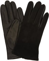 Portolano - Nappa Leather Suede Top Half-and-half Gloves - Lyst