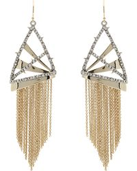 Alexis Bittar - Crystal Plaid Fringe Earrings - Lyst