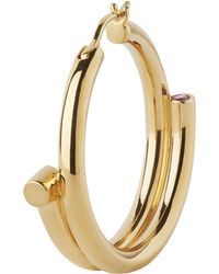 Maria Black - Gold-plated Genie Left Hoop Earring - Lyst