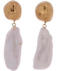 AGMES - Gold Vermeil Baroque Patrice Earrings - Lyst