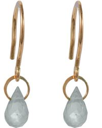 Melissa Joy Manning - Gold White Topaz Mini Drop Earrings - Lyst