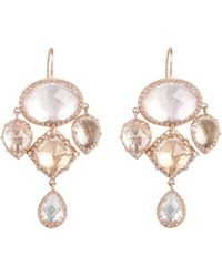 Larkspur & Hawk | Rose Gold Sadie Girandole Drop Earrings | Lyst