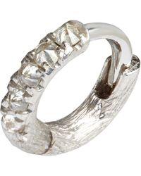 Annoushka - Dusty Diamonds Single Rhodium Hoop Earring - Lyst