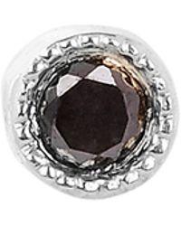 Maria Tash - 1.5mm Black Diamond Scalloped Set Threaded Stud Earring - Lyst