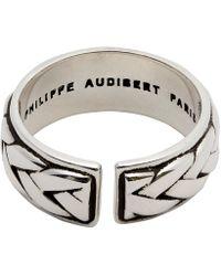 Philippe Audibert - Fillan Lattice Adjustable Ring - Lyst