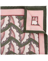 Liberty Cecil Printed Silk Pocket Square - Green