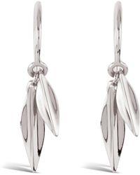 Dinny Hall - Silver Lotus Double Leaf Drop Earrings - Lyst