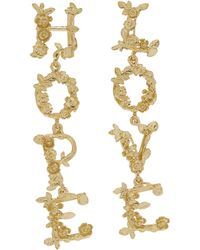 Alex Monroe - Gold-plated Hope And Love Asymmetric Drop Earrings - Lyst