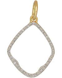 Monica Vinader | Gold Vermeil Diamond Riva Hoop Pendant | Lyst