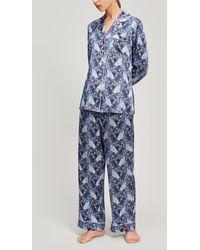 Liberty - Valentine Silk Charmeuse Pyjama Set - Lyst
