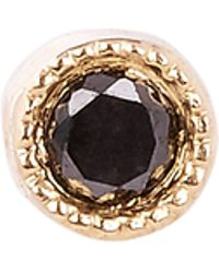 Maria Tash - 1.5mm Black Diamond Scalloped Set Threaded Stud Earring - Lyst