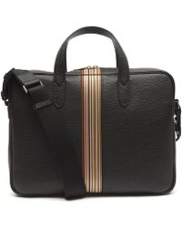 Paul Smith - Leather Artist Stripe Portfolio Bag - Lyst
