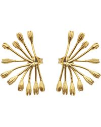 Alex Monroe - Gold-plated Fanned Seed Pod Stud Earrings - Lyst