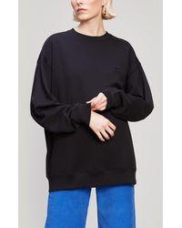 Acne Studios - Forba Face Patch Long Cotton Sweatshirt - Lyst