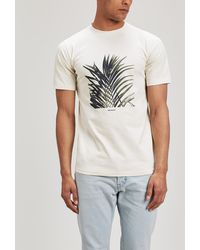 Norse Projects - James Palm Print T-shirt - Lyst