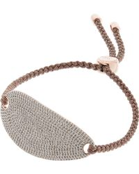 Monica Vinader - Rose Gold Vermeil Nura Diamond Friendship Bracelet - Lyst