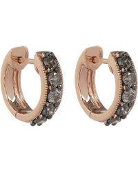 Annoushka - 18ct Rose Gold Dusty Diamonds Hoop Earrings - Lyst