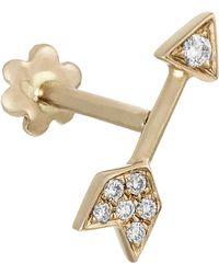 c1f6eeffc Maria Tash Diamond Paisley Threaded Stud Earring Right - Lyst