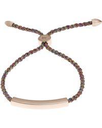 Monica Vinader - Rose Gold Vermeil Linear Cord Friendship Bracelet - Lyst