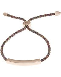 Monica Vinader - Rose Gold-plated Linear Metallica Cord Friendship Bracelet - Lyst