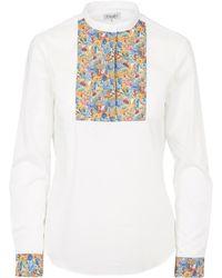 Liberty - Square Bib Shirt - Lyst