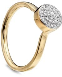 Monica Vinader - Gold Vermeil Fiji Diamond Button Ring - Lyst